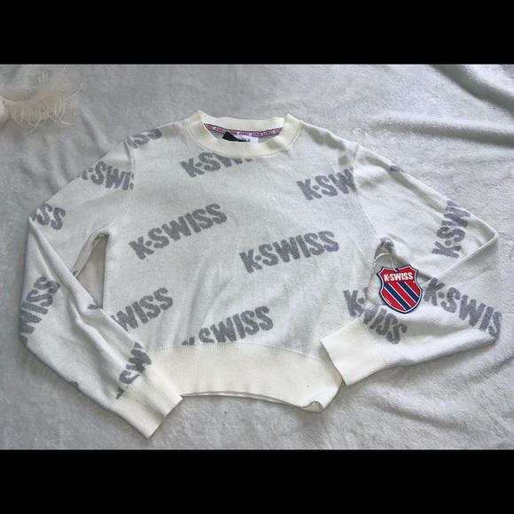 White K.Swiss set shirt and sweats